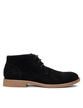 Men's Emilio Lace Up Shoe In Black Suede by Floyd
