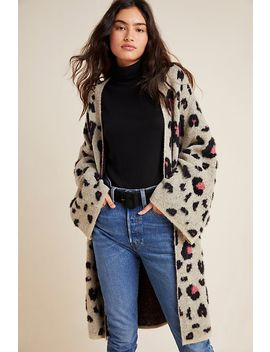 Ash Leopard Printed Cardigan by Anthropologie