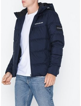 Hooded Down Puffer Jacket by Calvin Klein Jeans