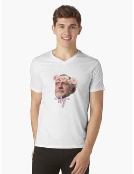Corbyn Flower Crown V Neck T Shirt by Notevenalison