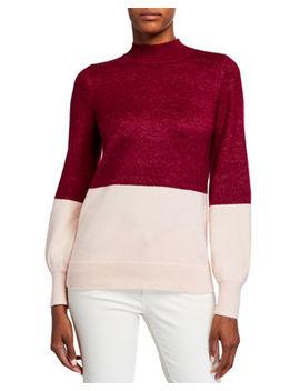 Michael Michael Kors Colorblock Mock Neck Sweater by Michael Michael Kors