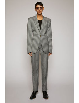 Pinstriped Suit Jacket Light Grey by Acne Studios