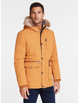 Faux Fur Hooded Parka by Guess