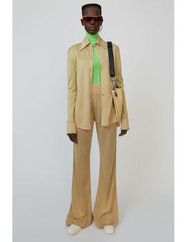 Lurex Knit Trousers Wheat Beige by Acne Studios