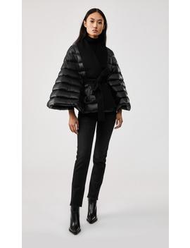 Lightweight Down And Wool Cashmere Cape by Julietajulieta