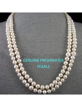 Genuine Freshwater White Pearl Endless Long Necklace by Wish