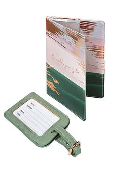 Tranquil Retreat Pu Passport Holder And Luggage Tag889/9897 by Argos