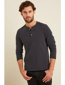 Fat Face Grey Foxley Slub Henley T Shirt by Next