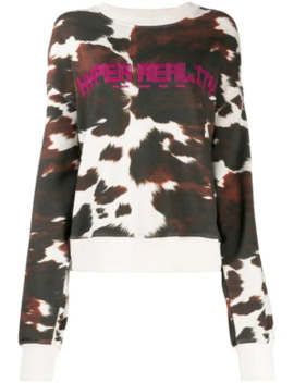 Cow Print Hyper Reality Sweatshirt by House Of Holland