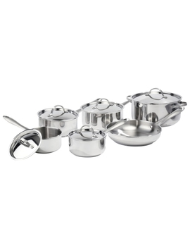Lagostina Venezia 11pc Stainless Steel Cookware Set  Open Box by Best Buy