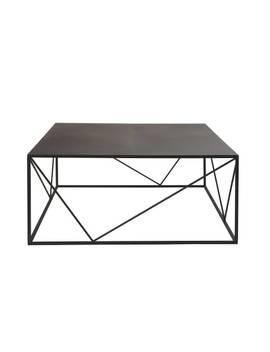 Table Basse Carrée En Métal Noir    Edwin by Maisons Du Monde