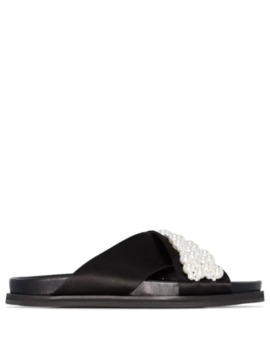 Pearl Embellished Slides by Simone Rocha
