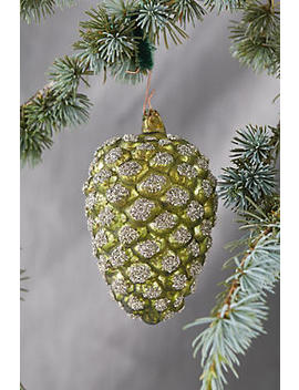 Glitter Pinecone Ornament, Medium by Anthropologie