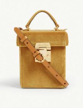 Velvet Grace Cube Bag by Mark Cross
