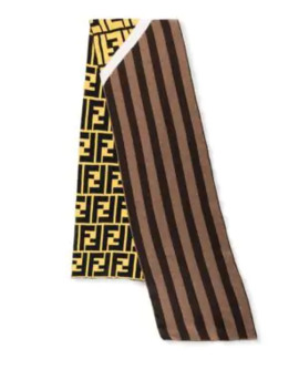 Striped Wool Fleece Scarf by Fendi
