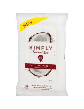 "<Span><Span>Simply Summer's Eve Coconut Water Cleansing Wipes</Span><Br><Span>  24ct</Span></Span><Span Style=""Position: Fixed; Visibility: Hidden; Top: 0px; Left: 0px;"">…</Span> by 24ct…"
