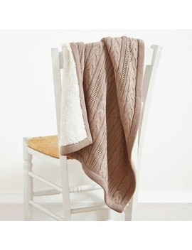 Cable Knit & Faux Shearling Blanket by Jo Jo Maman Bebe