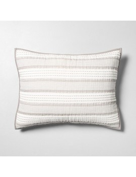 Pillow Sham Woven Stripe Galvanized Gray   Hearth & Hand™ With Magnolia by Shop This Collection