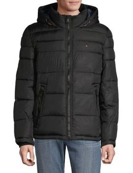 Classic Hooded Performance Puffer Jacket by Tommy Hilfiger
