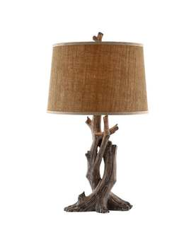 Carbon Loft Watt Resin Natural Wood Table Lamp by Carbon Loft