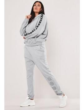 Plus Size Grey Msgd Joggers by Missguided