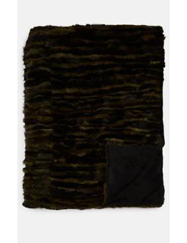 Camouflage Mink Fur Throw by Adrienne Landau