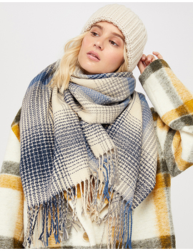 Jackson Check Blanket Scarf by Accessorize
