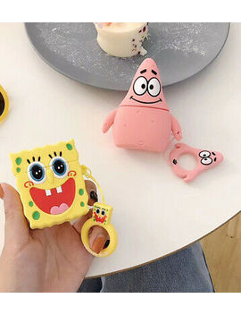 Sponge Bob Patrick Star Wireless Bluetooth Earphone Case Box For Apple Airpods by Unbranded