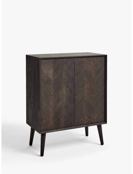 John Lewis & Partners Haegan Storage Cabinet, Black by John Lewis & Partners