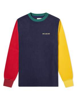 Aimé Leon Dore Long Sleeve Fleece Colourblocked Tee by Aimé Leon Dore