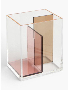 John Lewis & Partners Beauty Products Storage Caddy, Small, Pink by John Lewis & Partners
