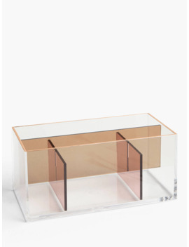 John Lewis & Partners Beauty Products Storage Caddy, Pink by John Lewis & Partners