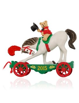 "Hallmark Keepsake ""A Pony For Christmas #18 With Teddy Bear"" Holiday Ornament by Hallmark"