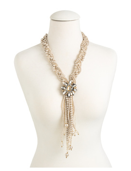 Pearl Fringe Necklace by Tj Maxx