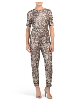 Metallic Sequin Jumpsuit by Tj Maxx