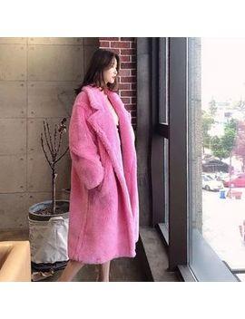 Sienne   Faux Fur Double Breasted Long Coat by Sienne