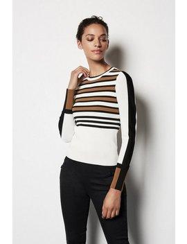 Bold Stripe Knit Jumper Bold Stripe Knit Jumper by Karen Millen