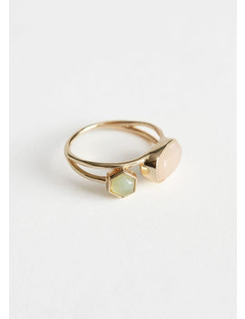 Duo Stone Pendant Layered Ring by & Other Stories