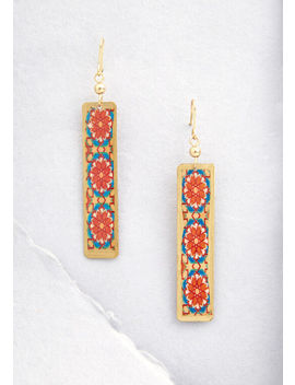 Tile Be True Dangle Earrings by Modcloth