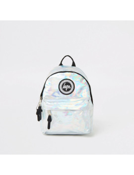 Girls Hype Silver Mirrored Mini Backpack by River Island
