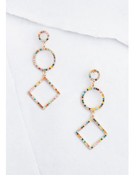 Geometric Glam Dangle Earrings by Modcloth