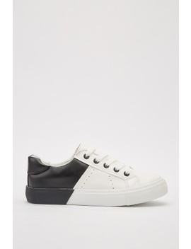 Colour Block Contrast Plimsolls by Everything5 Pounds