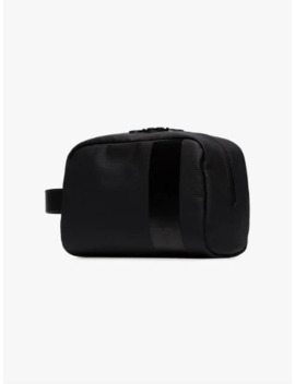 Black Logo Stripe Wash Bag by Rapha