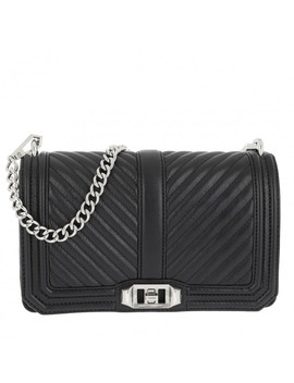 Chevron Quilted Crossbody Bag Black by Rebecca Minkoff