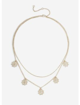 Gold Coin Layered Necklace by Miss Selfridge