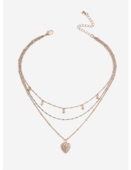 Gold Layered Necklace by Miss Selfridge