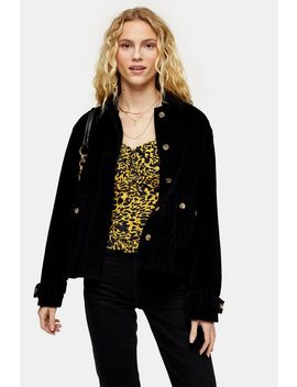 Black Corduroy Jacket by Topshop