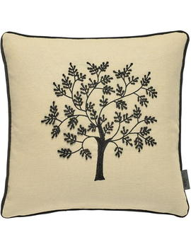 Morris Seaweed 40 X40cm Cushion Black by Morris And Co