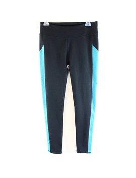 Fabletics New Black Blue Women's Size Medium M Athletic Legging Pants Deal by Fabletics