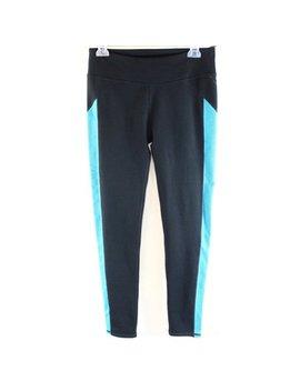 Fabletics New Black Blue Women's Size Medium M Athletic Legging Pants Deal by Fabletics